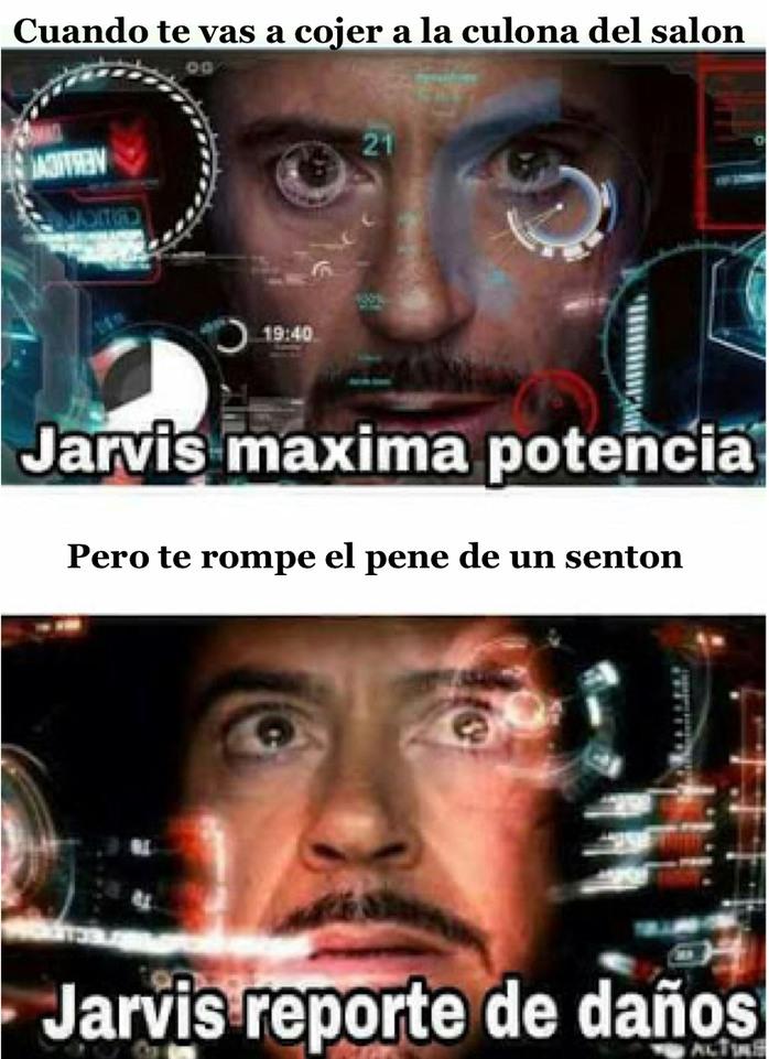 Jarvis reporte de daños - meme