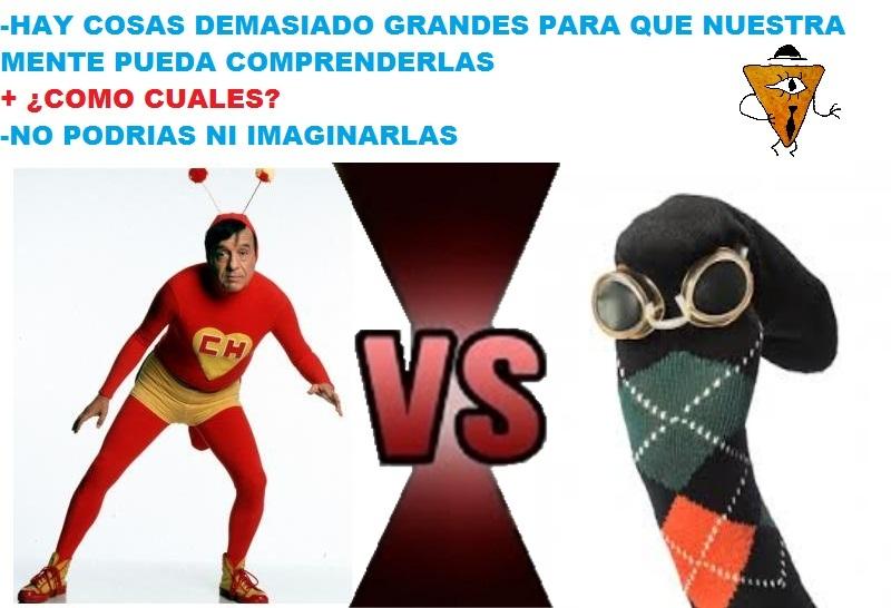 Calcetín con Rombosman es fan del Chapulin - meme
