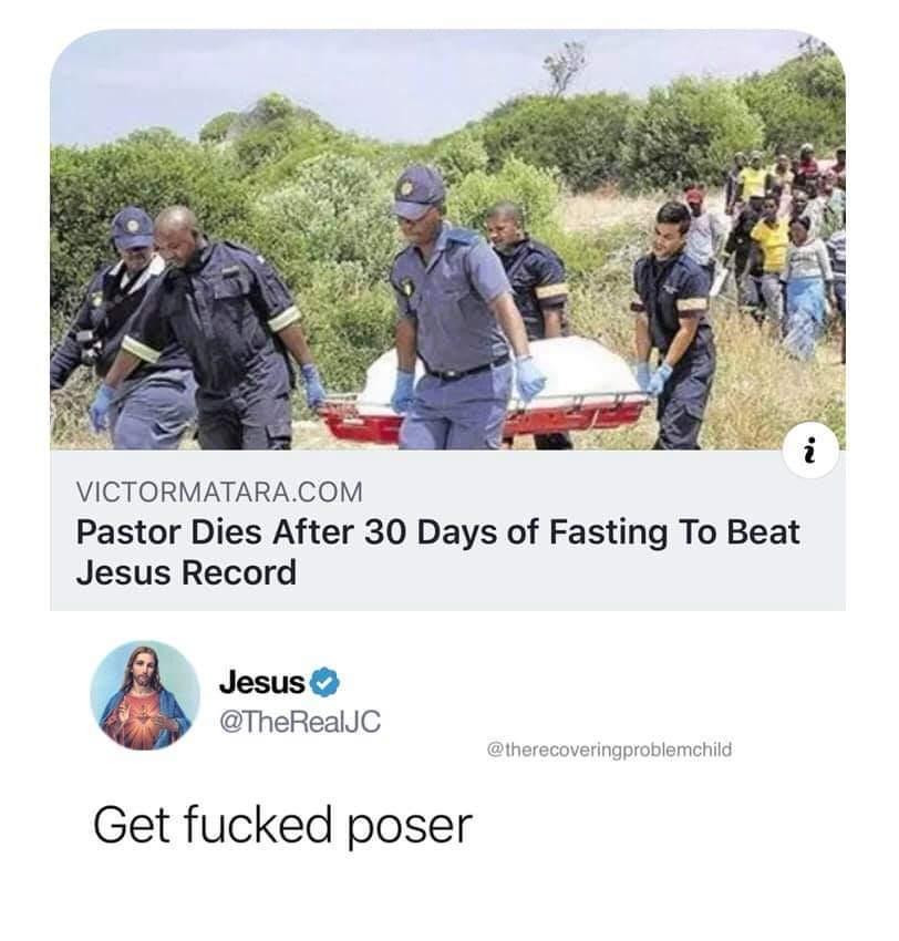 "And thus jesus said unto thee ""Get rekt cunt"" - meme"