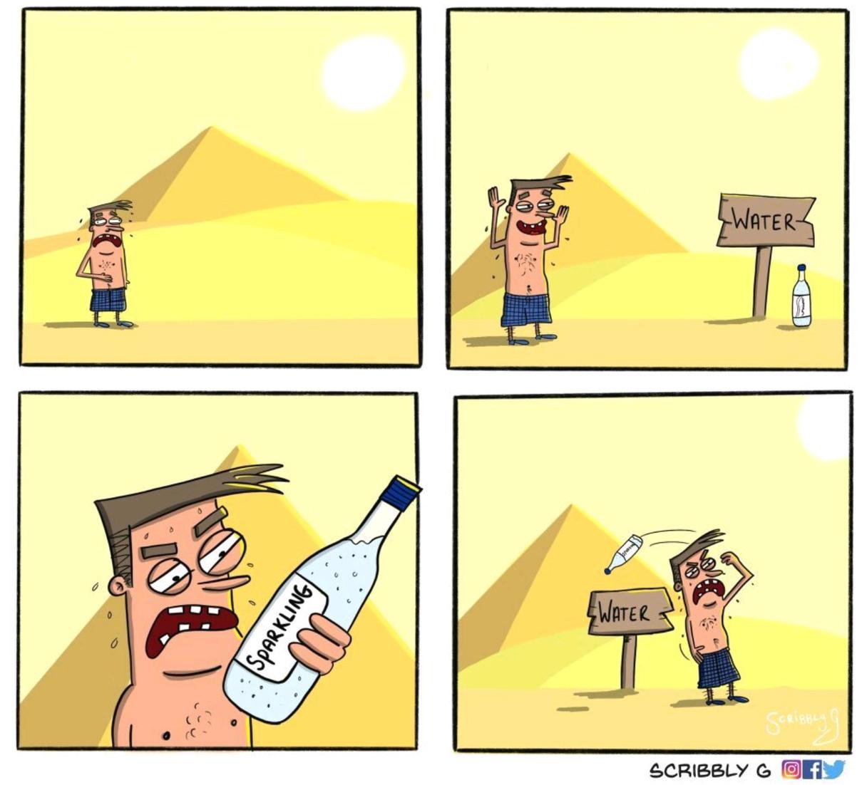 Sparklin water - meme