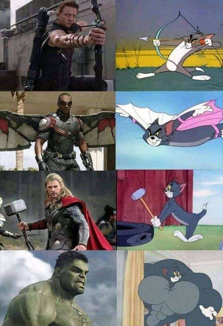 Quien necesita a los Vengadores cuando tenemos a Tom - meme
