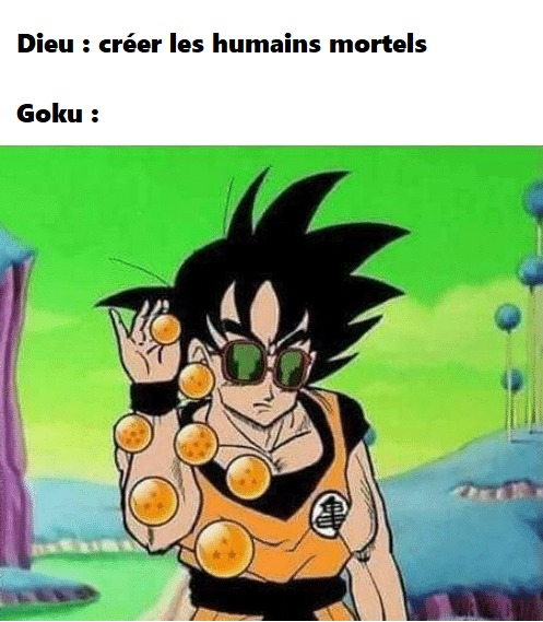Et Dieu créa Dragon Ball - meme