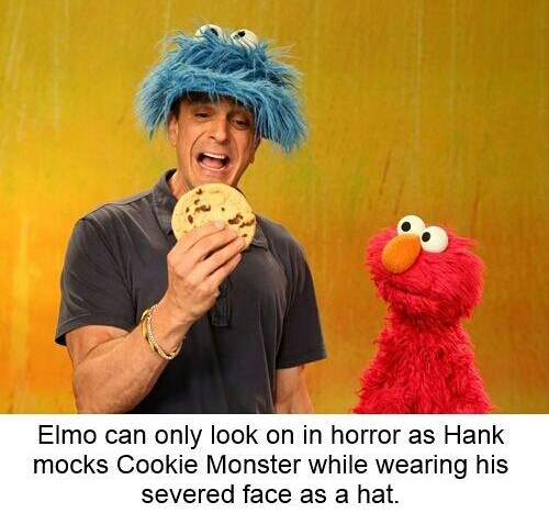 They're just content with destroying cookie monster - meme