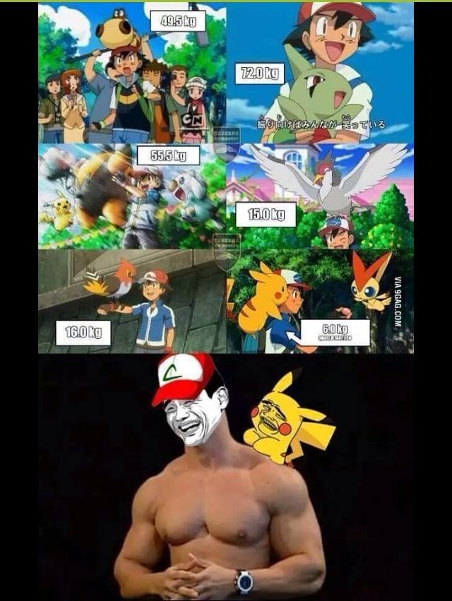 Ash been liftin' - meme