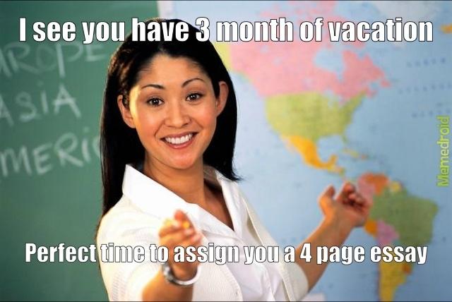 Unhelpful High School Teacher - meme