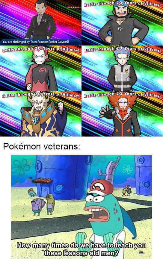 They even brought back giovanni - meme