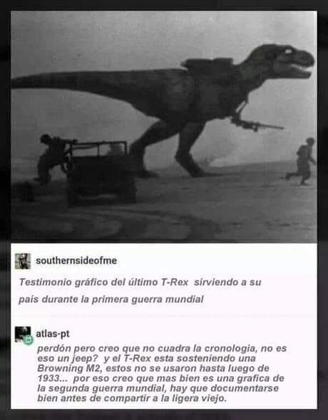 Por cual país luchaba el T-Rex - meme