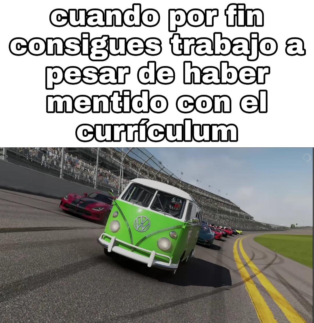 La convi clase P vs otros coches clase P - meme