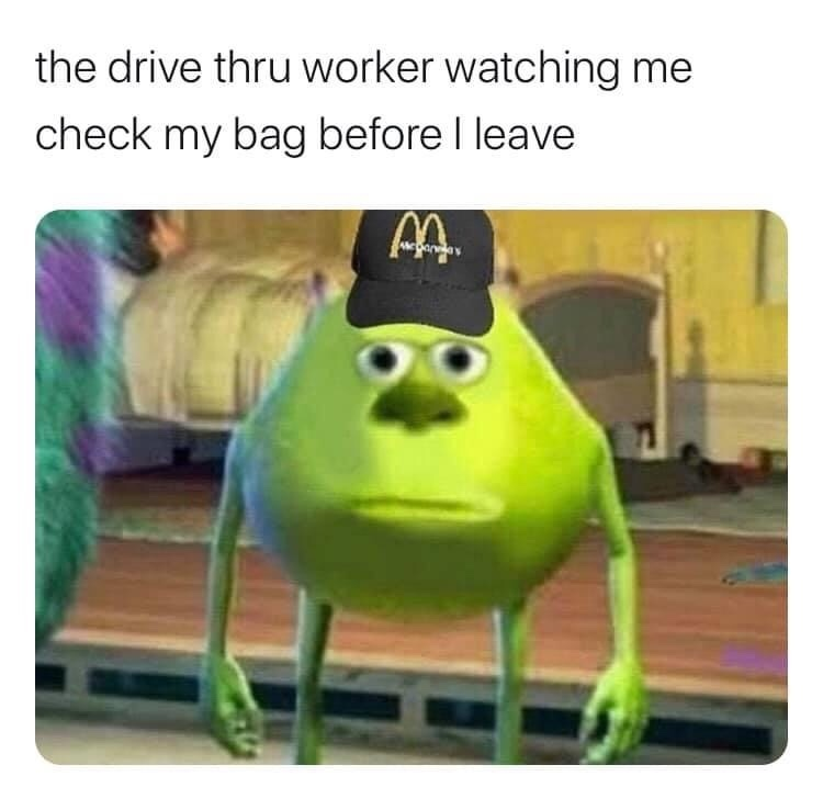 I ain't moving the car till I checked the bag!! - meme