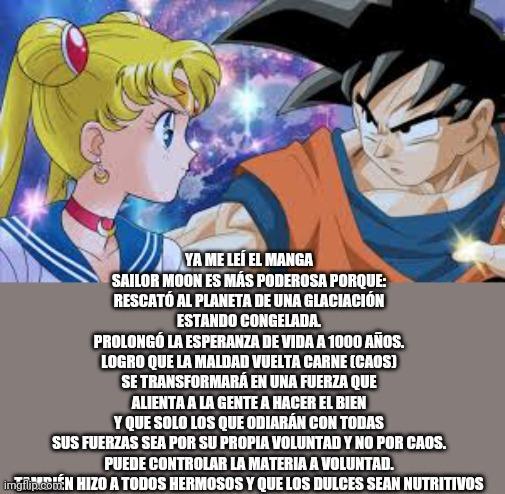 Goku le ganan't - meme