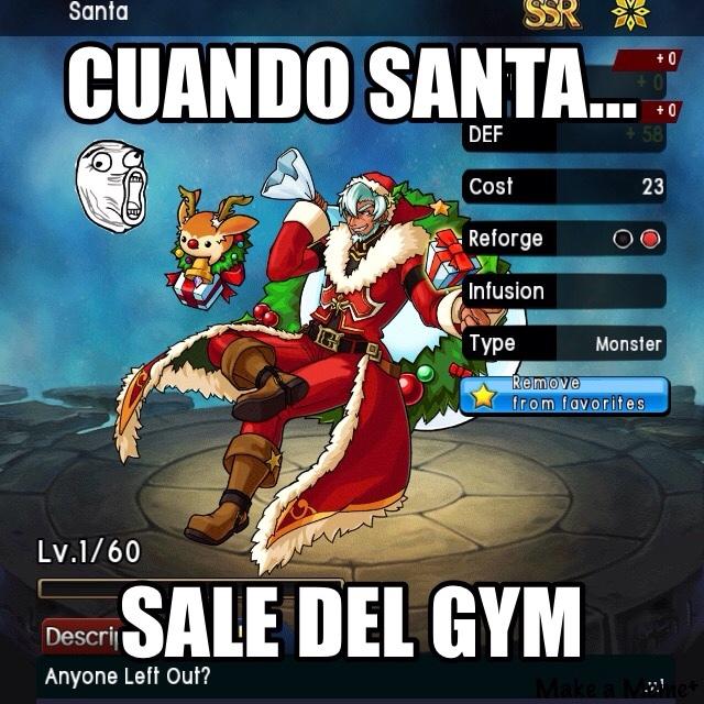 hasta a Santa le va mejor que a mí :'v original acéptenlo por favor - meme