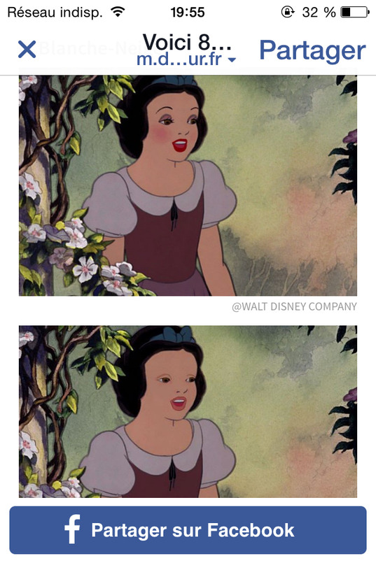 Blanche Neige sans maquillage WTF - meme