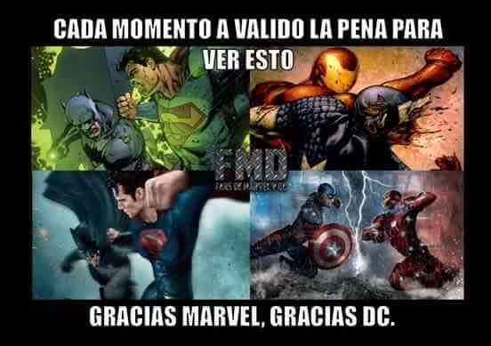 Gracias Dc y Marvel - meme
