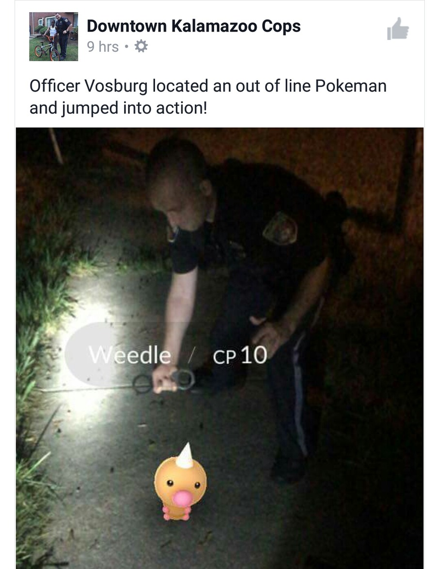 Even the cops are in on it - meme