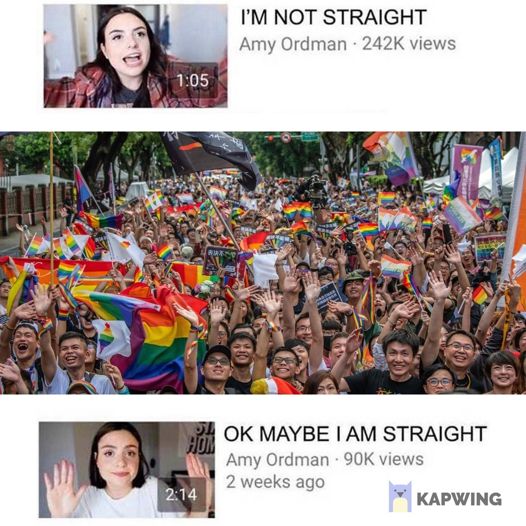 OK Maybe I am Straight - meme