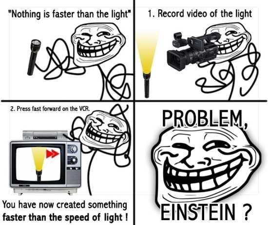 Albert Einstein is a myth - meme