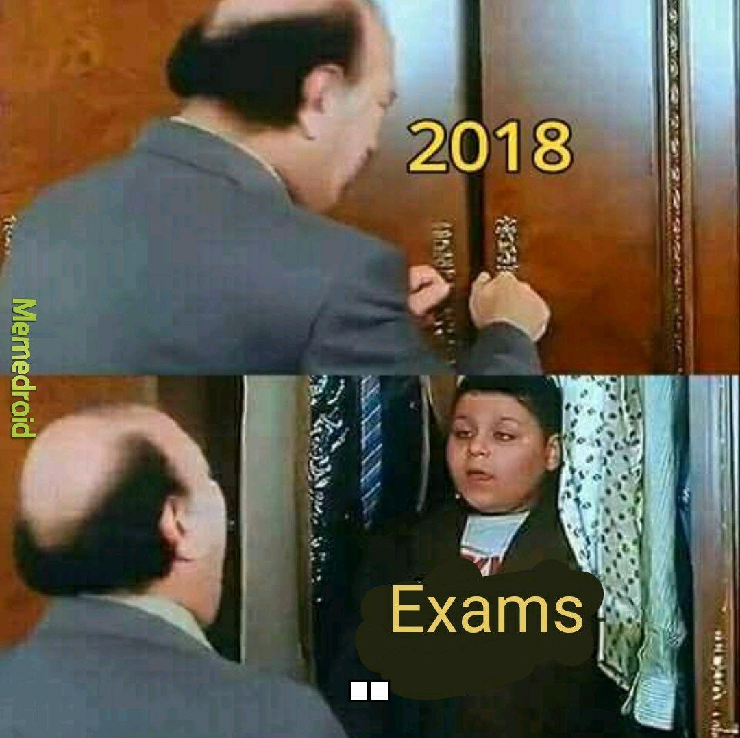 Exams exams exams - meme