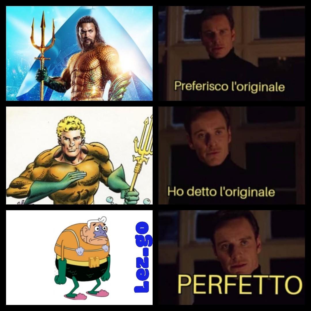 Da Aquaman a Waterman è un attimo - meme