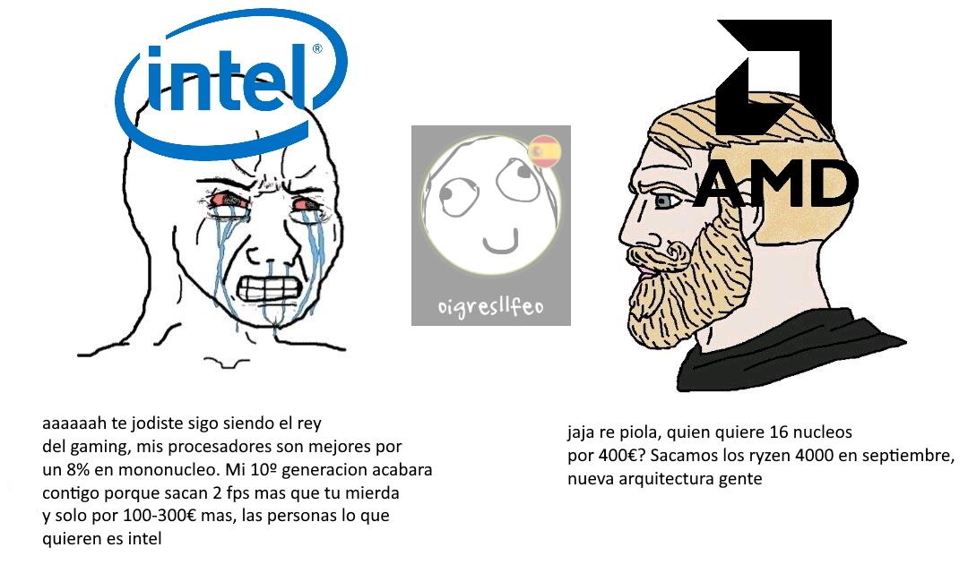 Intel muy caro para lo que ofrece. A esperar otro año a ver si sacan algo mejor - meme
