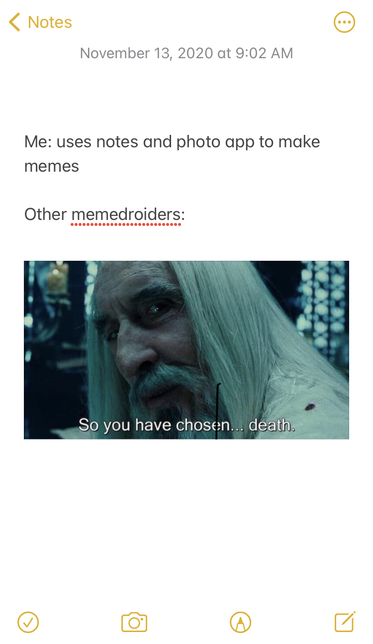 Notes is underrated - meme