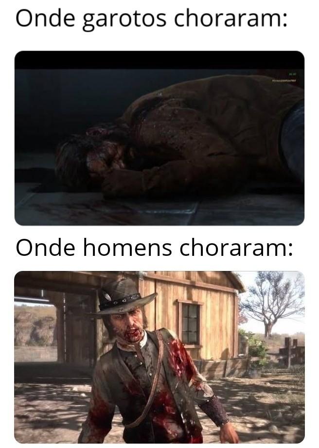 Último de nós vs Red Dead Redemption - meme