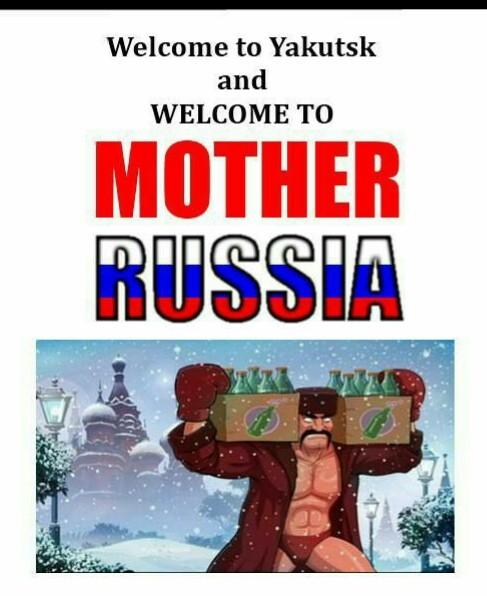 Bienvenidos a Rusia - meme