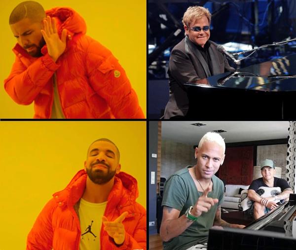 Neymar > Elton Jhon - meme