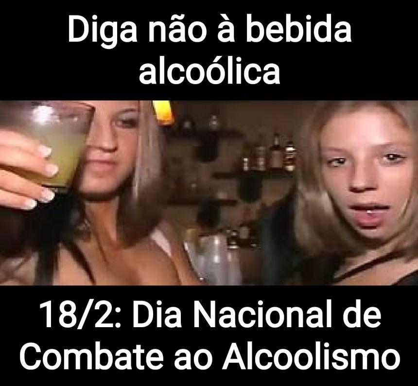 Diga não às bebidas alcoólicas. Seu fígado agradece - meme