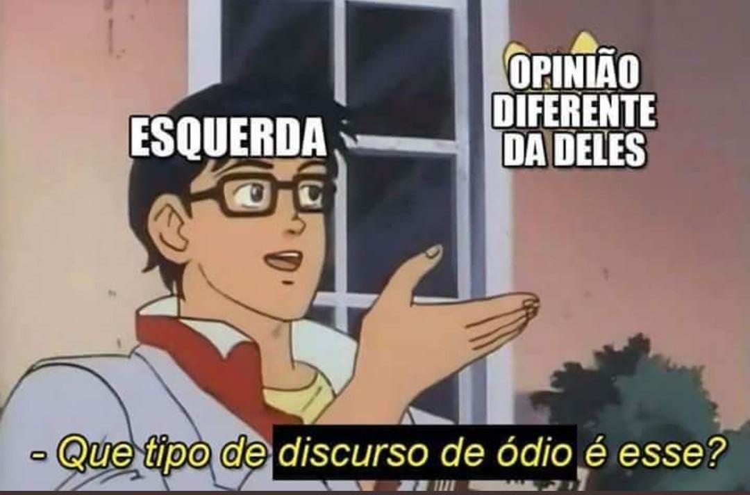 Fascista, Taxista, Eletricista e Homofóbico - meme