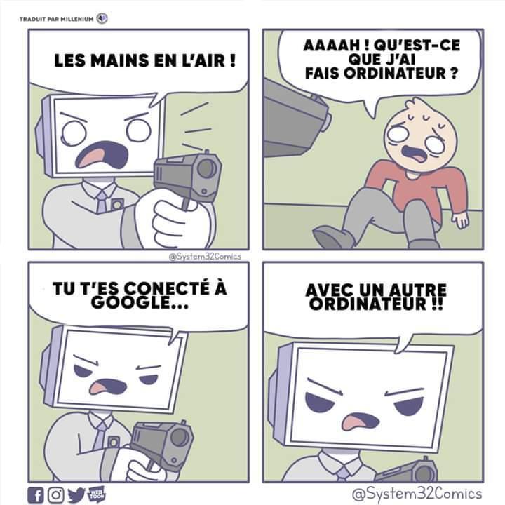 Traduction Française du même de System32Comics - meme