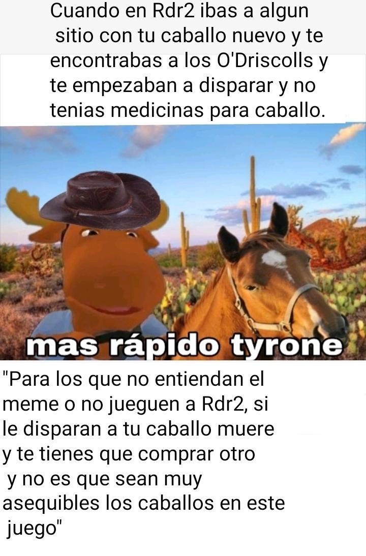 Comenten que caballo tienen en Rdr2 - meme