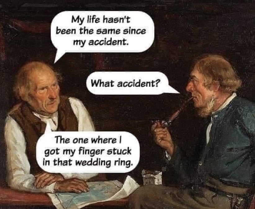damn wedding rings - meme