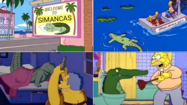 el titulo esta muerto por el cocodrilo  nutria - meme