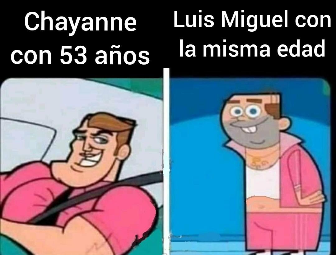 Luis Miguel es solo 2 años mas joven que Chayanne - meme