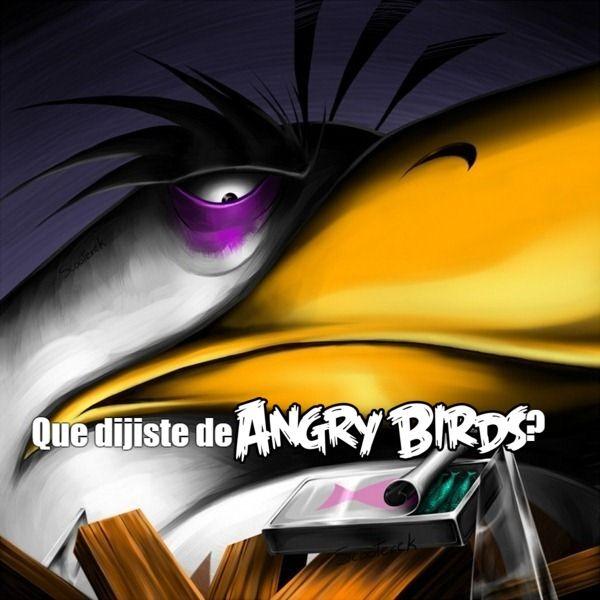 No se metan con los fans de Angry Birds, son 1000000 y como el 99% tienen musculos en los musculos - meme
