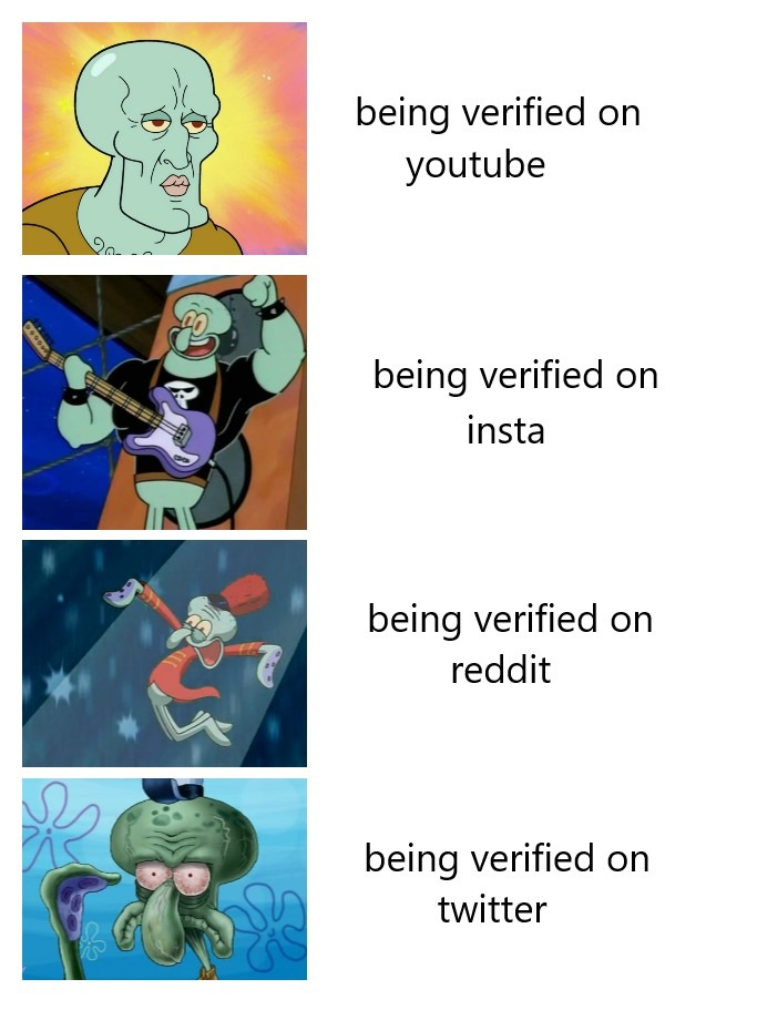 the verification button on twitter is fucking useless you can litteraly find some random account with an egg as pfp and zero posts and it will probably be verified. - meme