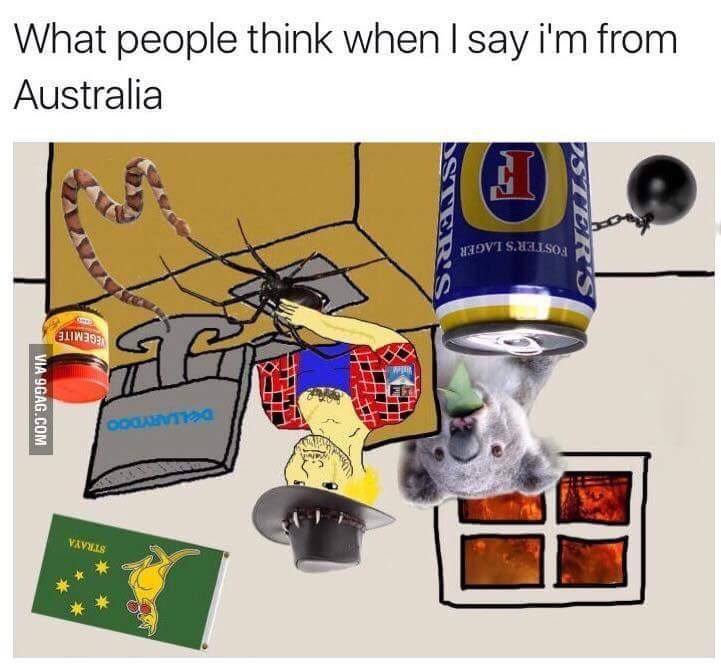 Proud to be Australian - meme