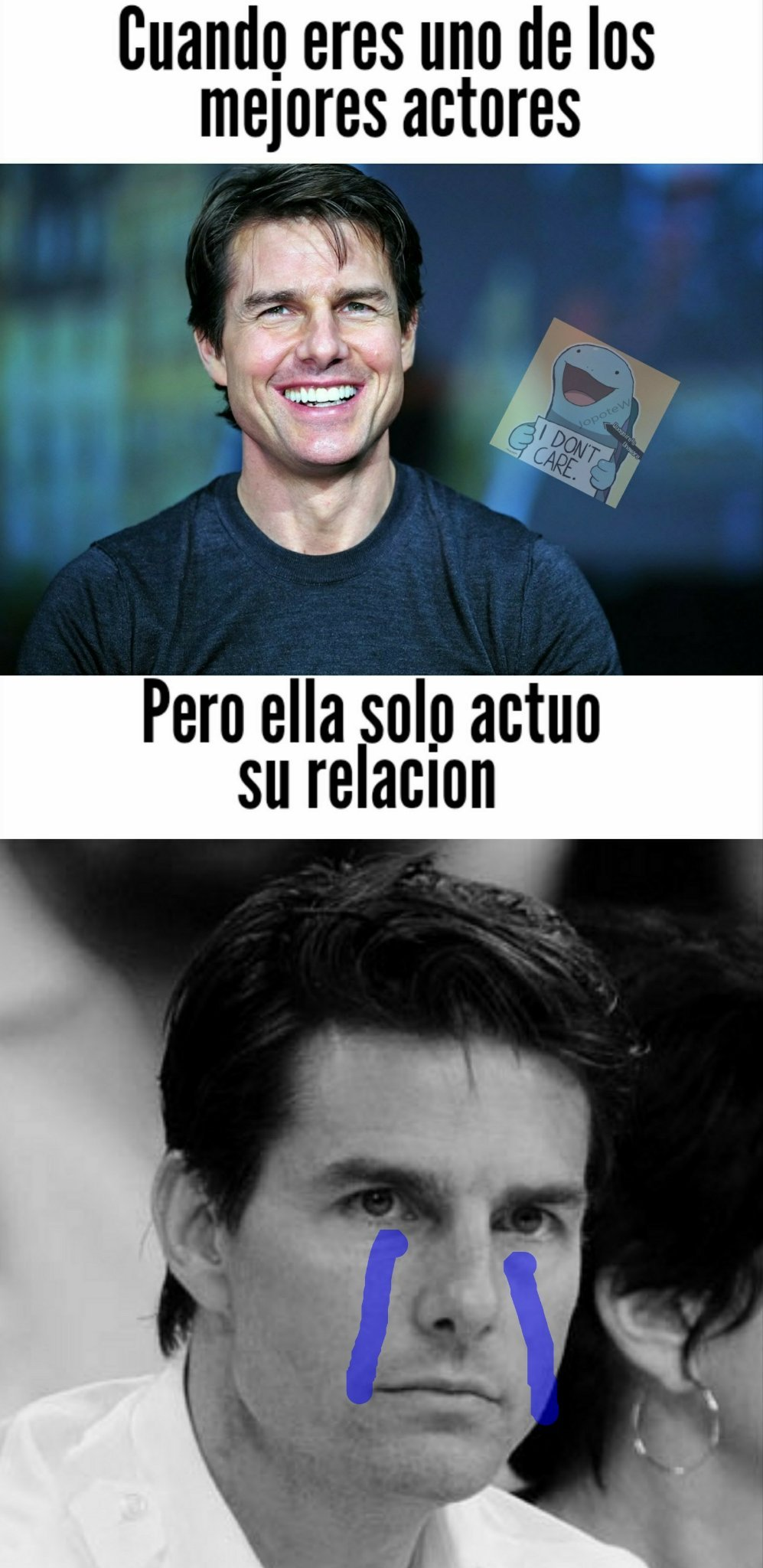 Tom cruise esta sad. - meme