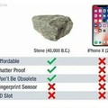 IPhone X vs Stone
