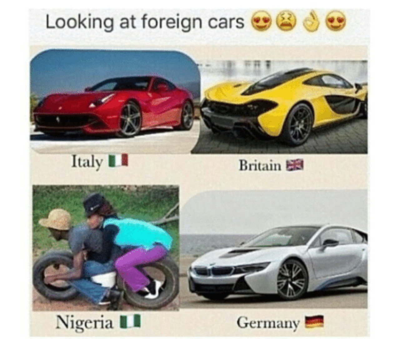 Foreign cars *i am not racist, but this is funny* - meme