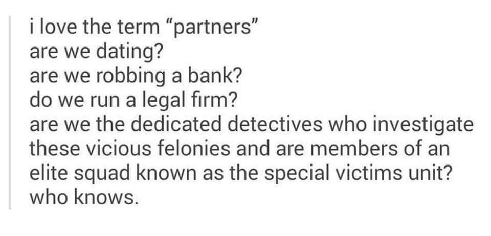 Who wants to be my partner ? - meme