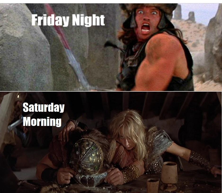 The weekend - meme
