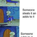 Stop stealing it