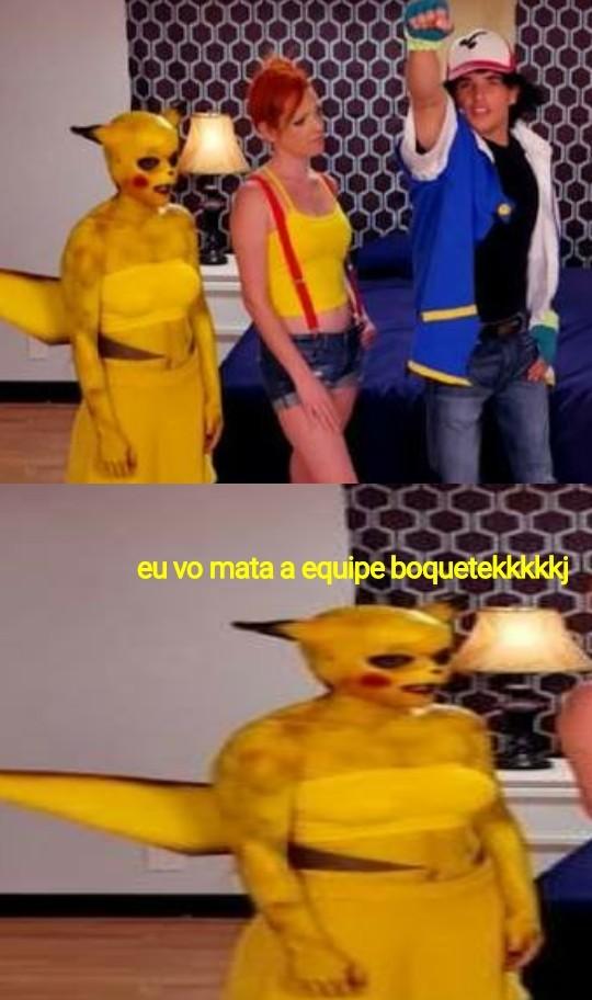Pikachu depois das drogas kkkk - meme