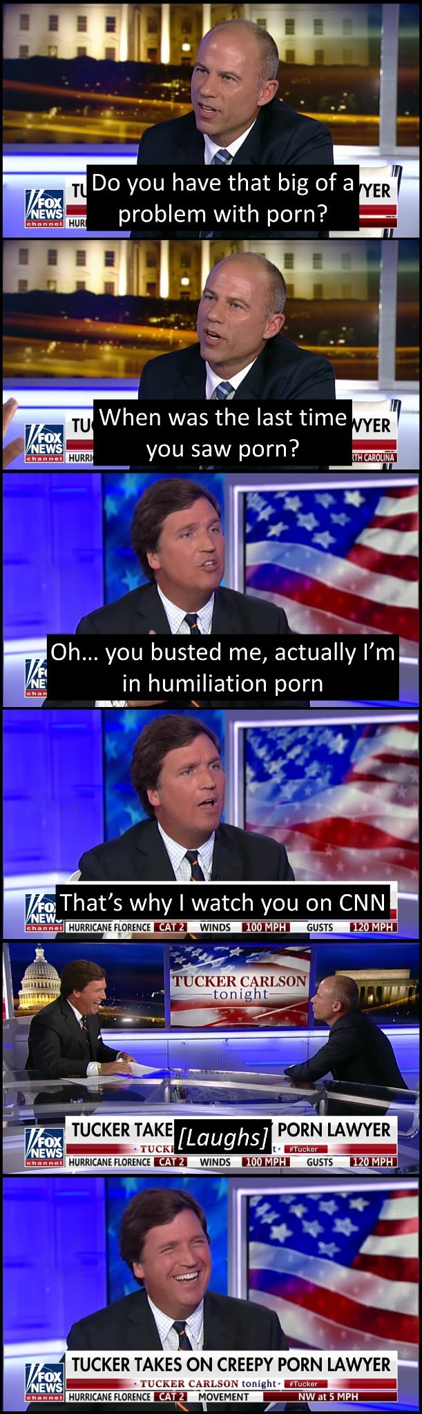 Good evening and welcome to Tucker Carlson Tonight! - meme