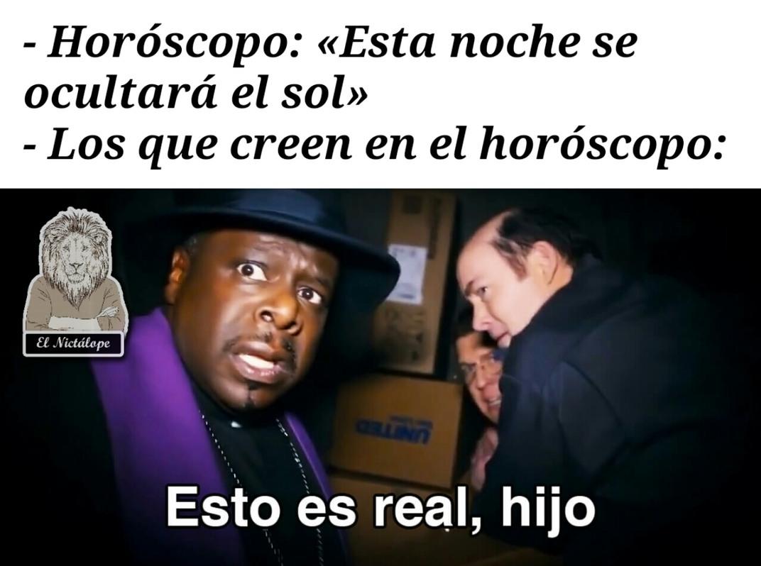 Horóscopo - meme