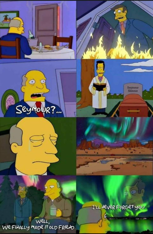 Steamed hams, but it's TRAGIC - meme