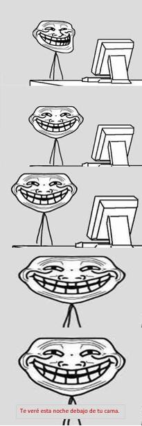La cara aterradora Troll - meme