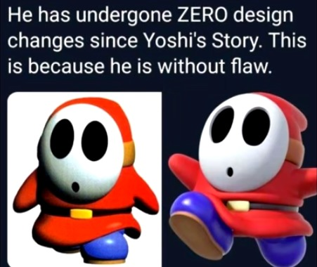 shyguy is immortal and perfect - meme
