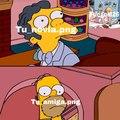 No podia ponerle el pelo a Moe por que si no tapada su cara mal